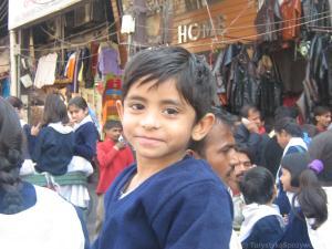 Chłopiec na Chandni Chowk, Delhi